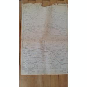 HARTA VECHE - TIMISOARA - ARAD - ANUL 1946