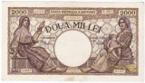 6)Bancnota 2000 lei 18 noiembrie 1941,filigran Traian,XF