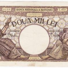 6)Bancnota 2000 lei 18 noiembrie 1941, filigran Traian, XF - Bancnota romaneasca