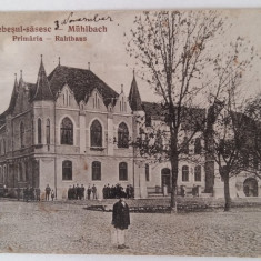 SEBES - SEBESUL SASESC - MUHLBACH - PRIMARIA - RAHTHAUS - INCEPUT DE 1900 - Carte Postala Transilvania 1904-1918, Circulata, Fotografie
