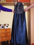 Rochie eleganta cu corset, L, Bleu