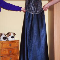 Rochie eleganta cu corset - Rochie de seara, Marime: L, Culoare: Bleu