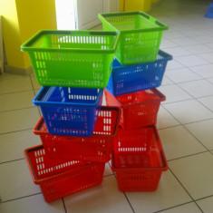 Cosuri de plastic cu 2 manere pentru supermarket - Raft/Etajera