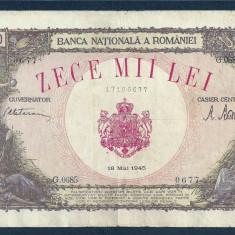ROMANIA 10000 10.000 LEI 18 MAI 1945 [17] - Bancnota romaneasca