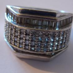Inel argint cu zirconii, model masiv - 189