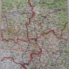 HARTA VECHE - BISTRITA -DEJ - TARGU MURES - ANUL 1934