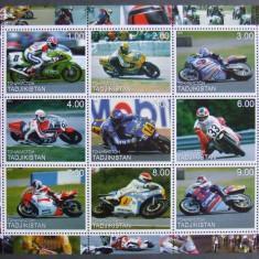 TADJIKISTAN 2000 - MOTOCICLISM, 1 M/SH NEOBLITERATA - TPLR 8