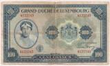 LUXEMBURG 100 Francs Franci 1944 U