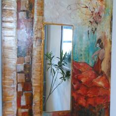 Panou decorativ cu oglinda-FLAMENCO - Oglinda living