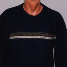 Bluza barbati COLUMBIA marimea L din lana Shetland bleumarin cu dunga pe piept - Vesta barbati, Marime: L, Sport