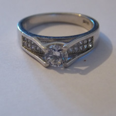 Inel argint tip logodna - 244