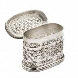 Caseta argintata ovala Traforata Sheffield by Chinelli