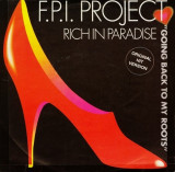 """F.P.I. Project - Rich In Paradise (1990, ZYX) Disc vinil single 7"""" euro-dance"""