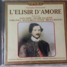 CD muzica clasica - L'ELISIR D'AMORE : GAETANO DONIZETTI - Nou, Sigilat