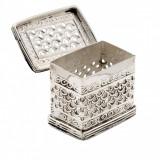 Caseta argintata dreptunghiulara Traforata Sheffield by Chinelli