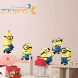 Autocolant Despicable Me 2 Minions Sticker Perete Minioni 2018 Camera Copiilor
