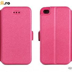 Husa Huawei Ascend Y5 Y560 Flip Case Inchidere Magnetica Pink - Husa Telefon Huawei, Roz, Piele Ecologica, Cu clapeta, Toc