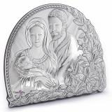 Icoana de Argint Sfanta Familie, 20X17cm