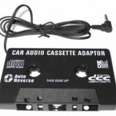 CASETA ADAPTOARE AUTO CU MUFA JACK PENTRU CASETOFON, MP3, TELEFON, DVD