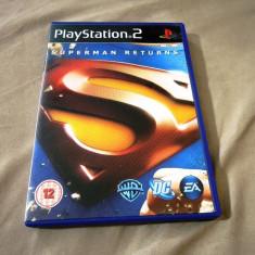 Joc Superman Returns, PS2, original, alte sute de jocuri! - Jocuri PS2 Ea Games, Actiune, 12+, Single player