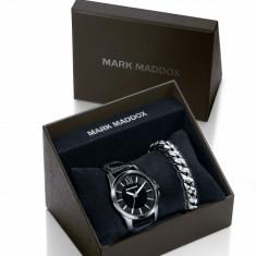 Ceas Mark Maddox barbatesc cod HC6009-99 - pret 409 lei (set ceas+bratara) - Ceas barbatesc Mark Maddox, Casual, Quartz, Piele, Analog, Nou