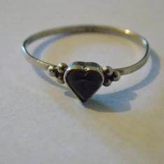 Inel argint zirconiu inima - 486