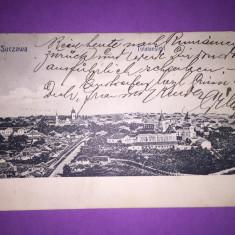 Suceava - Bukowina - Vedere Generala - Carte Postala Bucovina 1904-1918, Circulata, Fotografie