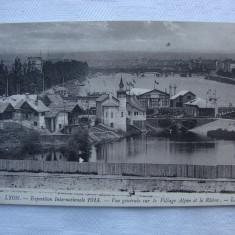 Carte postala necirculata - LYON - expozitia internationala 1914, Printata, Franta