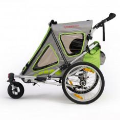 Remorca de bicicleta Qeridoo Speedkid2, noua, verde - Remorca bicicleta