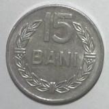 G5. ROMANIA 15 BANI 1975, 1 g, Al, 19.5 mm **, Aluminiu