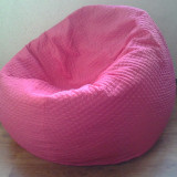 Puf roz, fotolii cu husa, fotoliu din material textil made in Bucovina - Fotoliu living