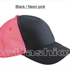 SAPCA, SEPCI TRUCKER cu plasa, Snapback, RETRO, Black/Neon Pink - EXCLUSIV ! - Sapca Dama