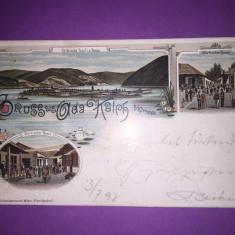 Ada Kaleh - Litografie - Carte Postala Banat 1904-1918, Circulata, Fotografie