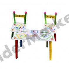 Masuta si scaune pentru copii - imprimeu cu litere si masini - Masuta/scaun copii