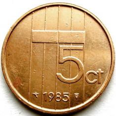 OLANDA / BEATRIX, 5 CENTS 1985, MONETARIA UTRECHT, Europa, Cupru (arama)