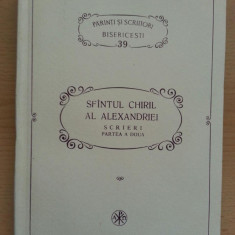 Sfîntul Chiril al Alexandriei, Scrieri, Partea a Doua, Glafire – PSB 39 - Carti ortodoxe