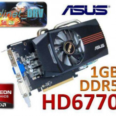 Placa video DirectX11 GAMING PCI-E ASUS Radeon HD6770 DirectCU 1GB DDR5 VGA DVI - Placa video PC Asus, PCI Express, Ati