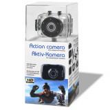 Camera Action Cam cu carcasa rezistenta la apa, cu un set de fixare, Card de memorie