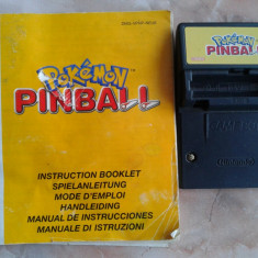 Vand jocuri, GAMEBOY ADVANCE, joc, manual, POKEMON PINBALL - Jocuri Game Boy Altele, Actiune, 3+, Single player
