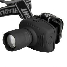 Lanterna Frontala de cap LED CREE 7W, 600 Lumen Q5, Cu Lupa Si Zoom.