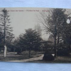 Carte postala circulata - Institut Notre Dame aux Epines, EECLOO - Jardin, Printata, Franta
