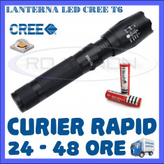 LANTERNA POLICE ULTRAFIRE CU LED CREE T6 - ZOOM - 5 FAZE INSTANTE LUMINOASE