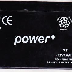 Baterie acumulator rechargeable MH26669 Power+ P7 (12 V7.0Ah) folosita, NiMH
