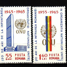 ROMANIA- O.N.U,serie de 2 valori MNH , R2