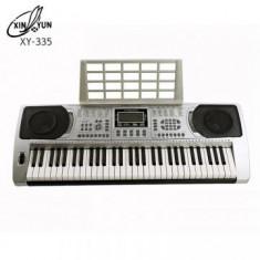 KEYBOARD ORGA PROFESIONALA MODEL 2016, XY335, CU 61 CLAPE, MP3 PLAYER USB, MIDI.NOUA