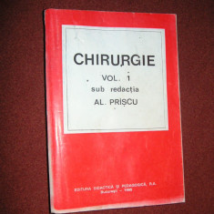 Chirurgie - Al.Priscu - Vol. 1 - Carte Chirurgie