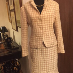 Costum dama Alia, mas. 42, Culoare: Roz, Costum cu fusta