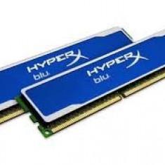 Vand memorie DDR3 16gb dual chanel KINGSTON HYPERX BLU, 2 x 8gb, garantie - Memorie RAM Kingston, 1600 mhz, Dual channel
