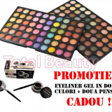 Trusa Machiaj 120 culori Fraulein38 Twist Calm + Eyeliner Gel 2 culori CADOU ! - Trusa make up