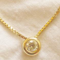 *** Lant+medalion diamant 0.5 ct aur 14 K ** ** - Pandantiv aur